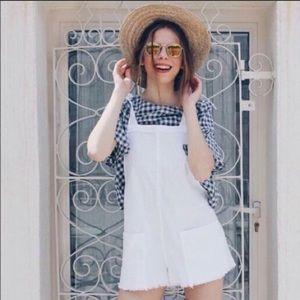 Zara roper overalls shorts